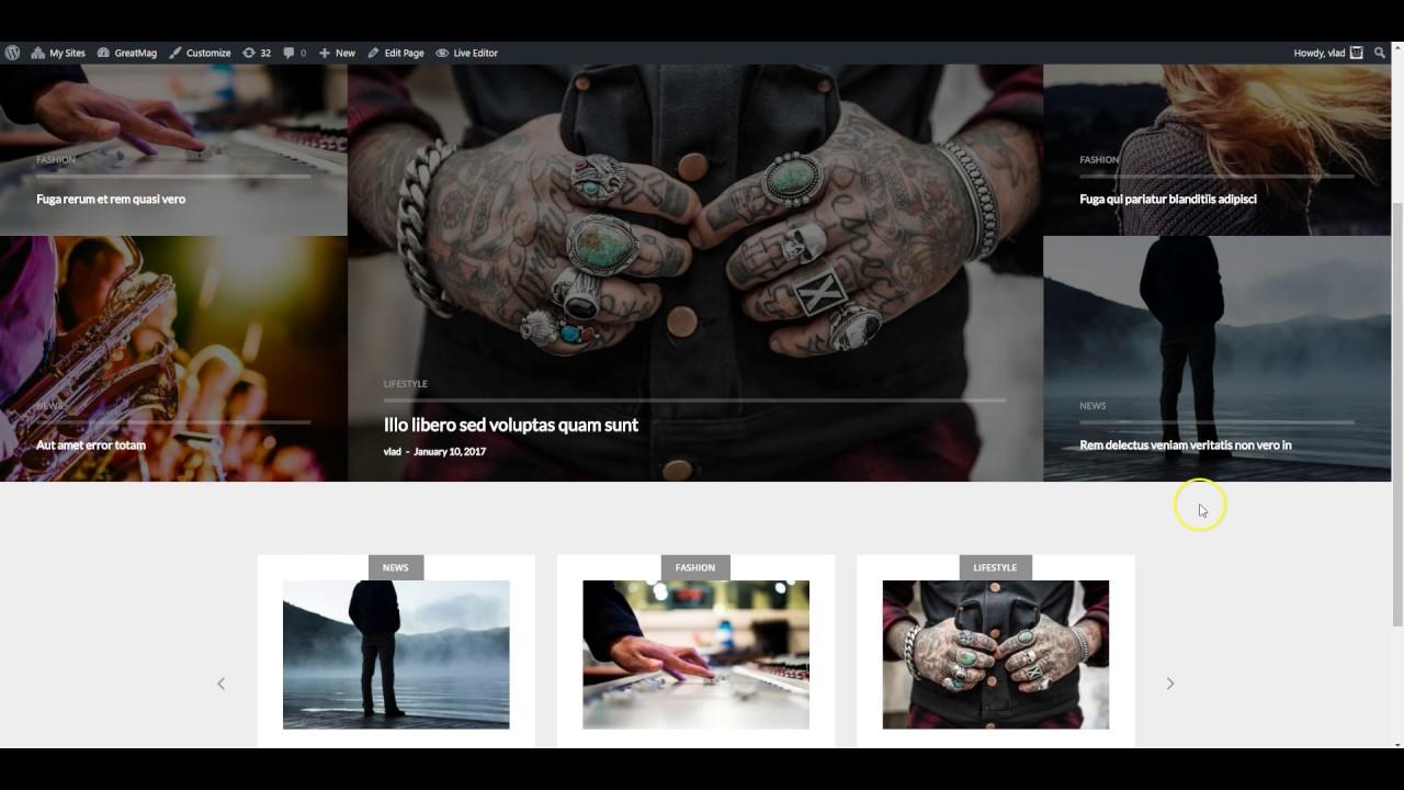Ücretsiz WordPress Temaları, Greatmag WordPress Teması