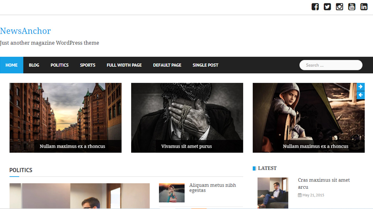 Ücretsiz WordPress Temaları, Newsanchor WordPress Teması