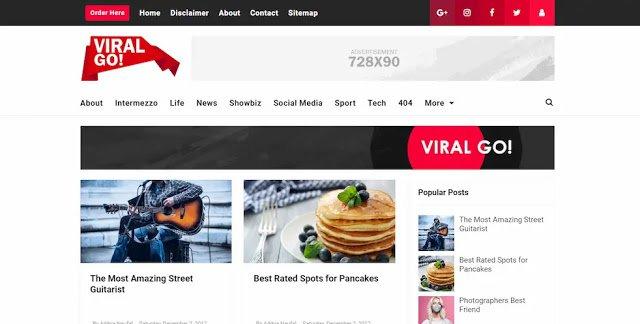 Viral Go! Ücretsiz Blogger Temaları,