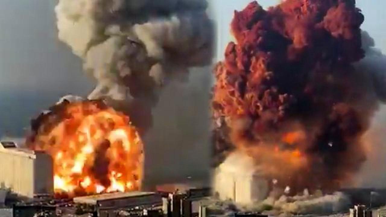Beyrut Büyük Patlama! Lübnan'ın Başkenti Sallandı
