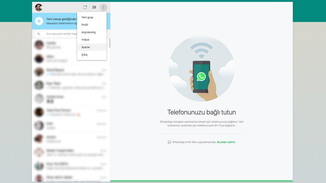 WhatsApp masaüstü güncellemesi ile karanlık mod